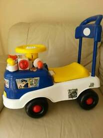 Child's ride on or pull along car