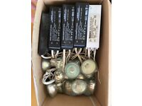 Halogen lamps with transformers and wiring (set of 35)