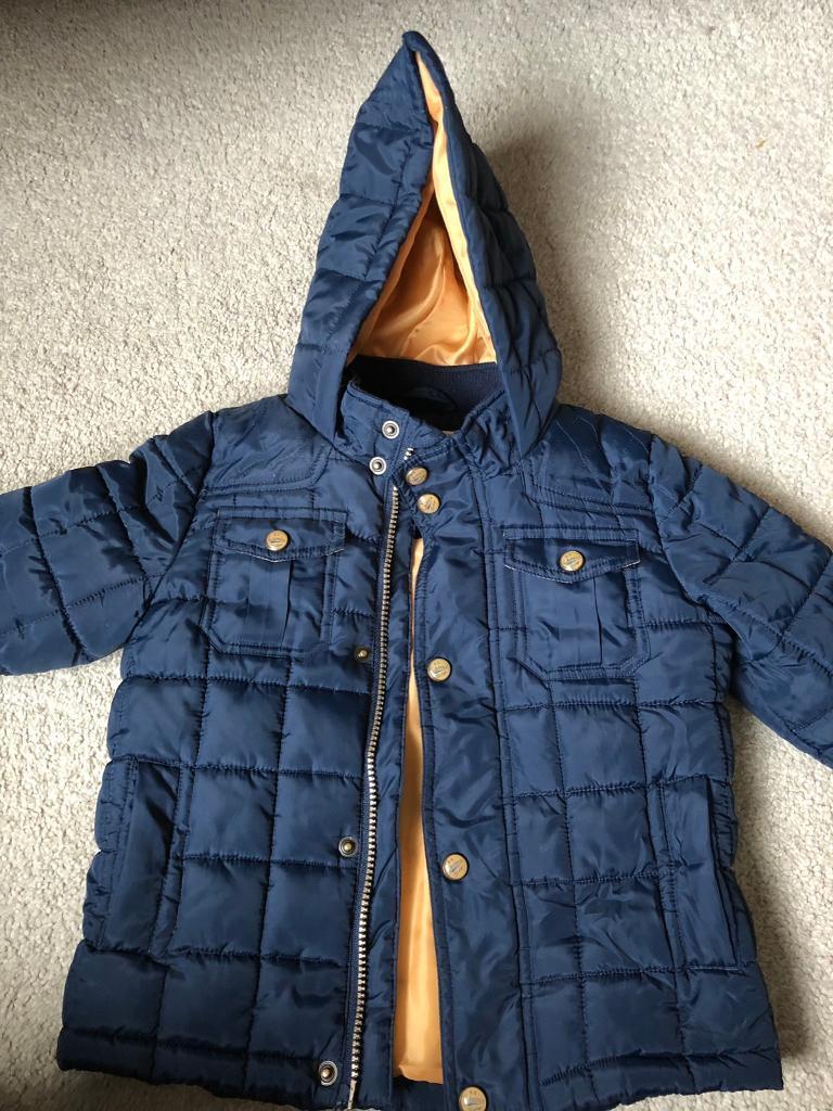 3dd890c790e9 Boys M S coat 3-4 £4
