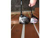 Nike driver and Dunlop 3 wood