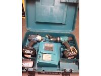 Makita drill set 18v battry 3.ah