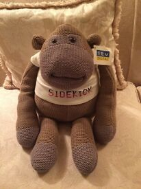 Original PG tips monkey with attached ITV digital tag