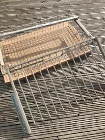 IKEA komplement trousers racks, rail and basket