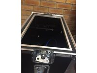 As new never gigged flight case (cost £500)
