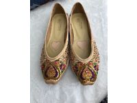 Sequin jewelled shoes