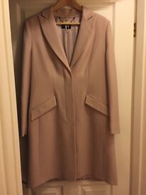 Brand new, never worn M&S full length coat size 14in blush pink colour, ideal wedding coat