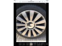"""17"""" vw Audi alloy wheels with tyres"""