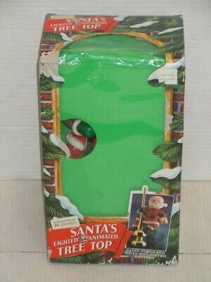 MR CHRISTMAS SANTA'S ANIMATED LIGHTED TREE TOP TOPPER WITH BOX WORKS 100% NICE
