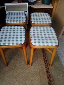 four sturdy stools