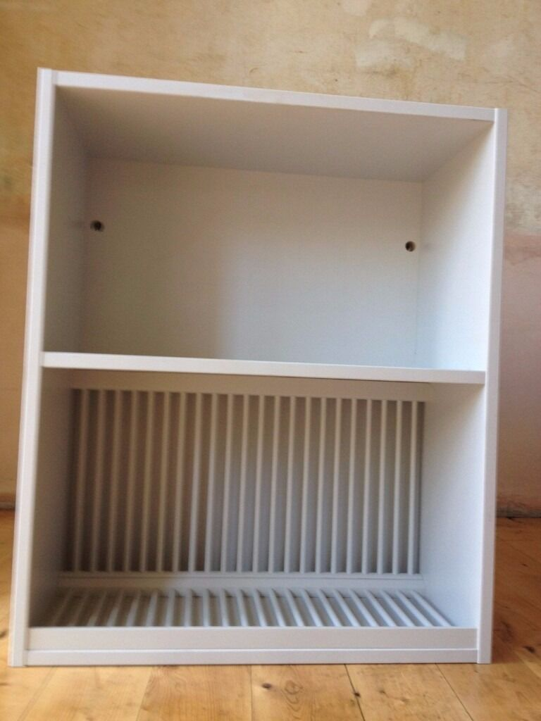 Wooden Plate Racks For Kitchens Light Grey Painted Wall Plate Rack Unit Brand New Unwanted