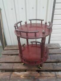 Mahogany round drinks table