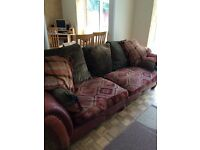 Leather and material sofa