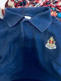 Boys brigade polo shirt size 32