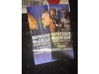 Two Mayweather v Mcgreggor physical tickets!!
