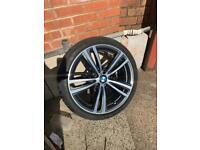 """Genuine Bmw 3/4 Series 19"""" Diamond Cut 442 M Sport Alloys And Tyres F30/F31/F32/F33/F34"""