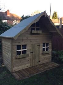 Children's wooden Wendy house / playhouse 8ft x 6ft tanalised timber