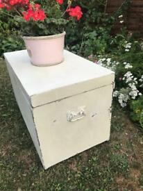 Antique Shabby Chic Trunk Chest with original handles. Lots of character