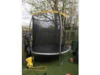 8ft enclosed large trampoline