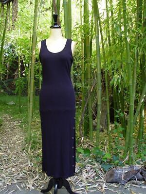 Basic Black Ribbed Knit Casual Slim Fit Tank Long Maxi 297 mv Dress 1XL 2XL 3XL