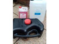 Grey Water tank. Clean Water drum. Chemical toilet cleaner