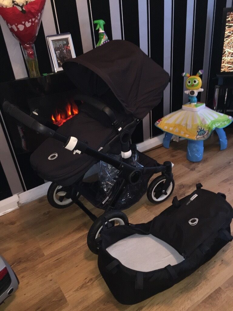 Black bugaboo buffalo cheap pramin Birkenhead, MerseysideGumtree - Bugaboo buffalo pram all black. Very good condition. Bought for £1050 around 11 months ago so not even a year old! Selling as want to buy a buggy for my baby. Pram comes with all black frame (had to pay extra for the black frame instead of...