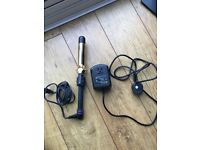Hardly used Hot Tools 24k gold 1 1/4 inch curling iron with free AC converter for UK/Europe use