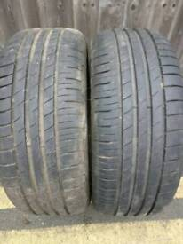 2 x Goodyear Efficient grip 215/55/R16 for sale