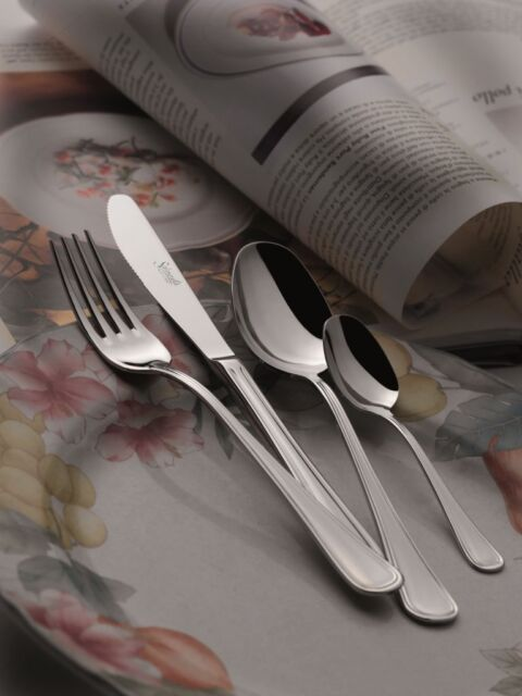 Salvinelli - Cutlery Set Bavaria 18/10 Stainless Steel, 24 Pieces for 6 persons