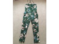 Zara floral jumpsuit size small