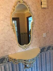 Shelf and mirror for sale
