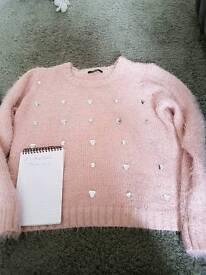 Ladies pink jumper size 18