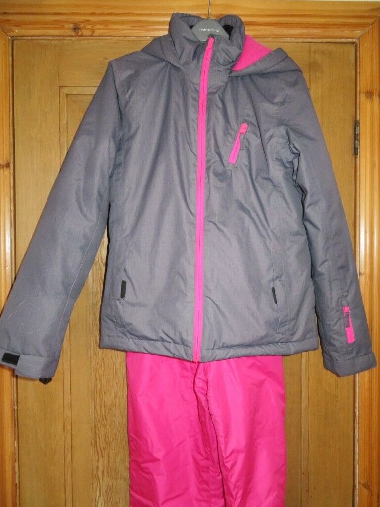 GIRLS SKI JACKET AND SALOPETTES AGE 13 - 14  2753b9602