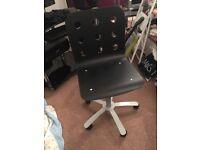Ikea black swivel computer chair