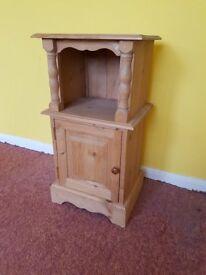 Rustic wooden bedside cabinet
