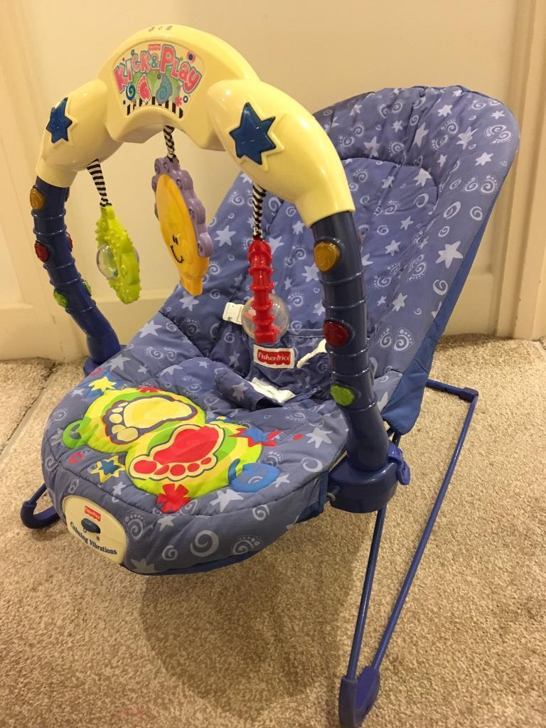 bbe9e4435759 Fisher Price Kick and Play Baby Bouncer  Sensible offers welcome ...