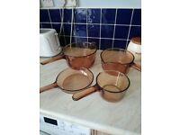 Set of 4 vision pans