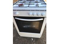 Gas cooker 60 cm white colour... free delivery