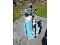 Ladies/junior golf clubs and bag
