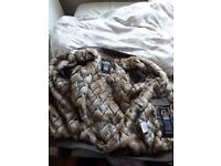 Glorious Gangsta Fur Jacket Size Small Worn Once But Won't Fit