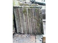 2 foot square x 2ins concrete paving slabs