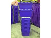 1 x USED 80 Ltr Large Plastic Storage & Removal Crate, mixed colours