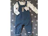 Peter Rabbit baby dungarees outfit