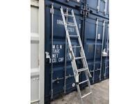Aluminium ladders with platform