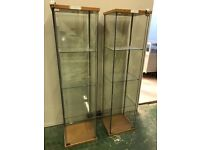 Various glass didplay cabinets