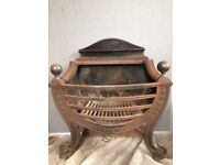 Pretty used cast iron Fire basket in good condition
