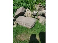 Large garden rocks. £1 each. Rockeries or building a wall. We have about 100!
