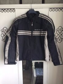 Frank Thomas Luffield Café Racer Men's Motorcycle Jacket - Black/Cream - Large £40