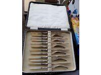 EPNS cutlery set - pearl handles