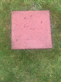 50 Paving slabs 45cm by 45cm (17 1/2inch by 17 1/2inch)