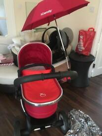i candy pram and pushchair and laads extra